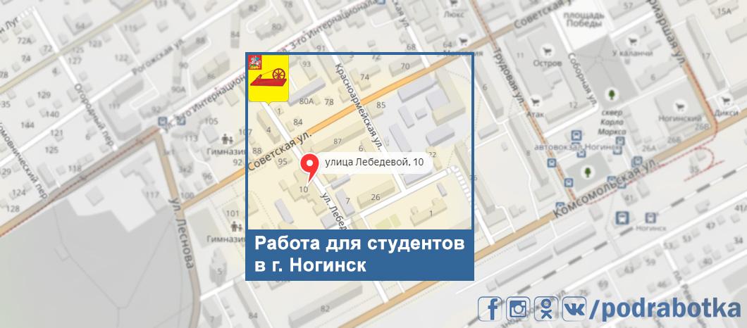 Карта Ногинск